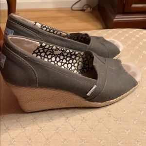 Toms wedges!